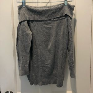 Forever 21 off the shoulder gray sweater